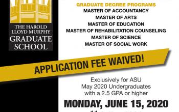 ASU Graduate Admissions Virtual Information Fair Flyer