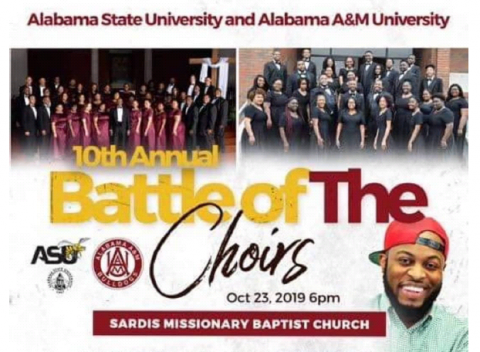 Battle of the Choirs flyer