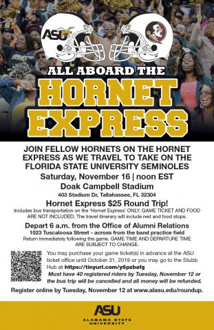 Hornet Express informational flyer