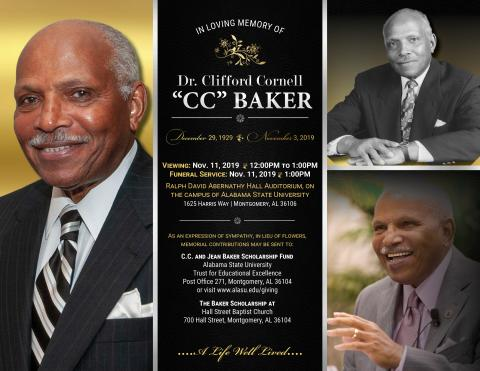 Dr. CC Baker funeral graphic