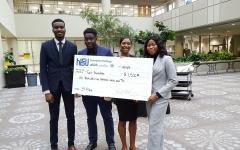 ASU Students poise for a picture after the competition