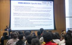 Dr. Manoj Mishra speaking at NRMN MISSION orientation
